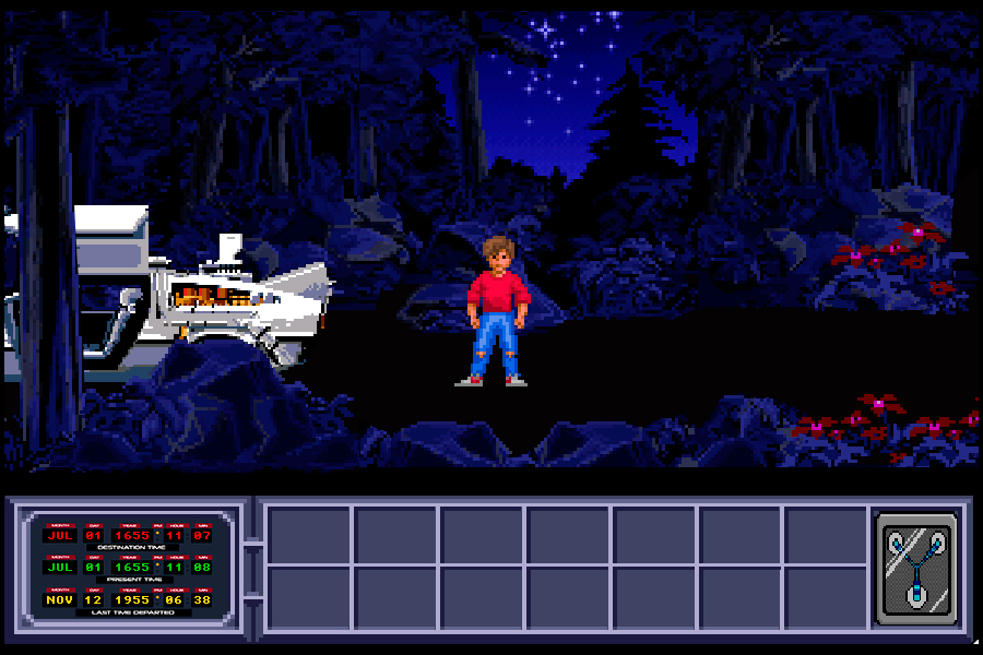 Back to the Future Part III: Timeline of Monkey Island - Interface