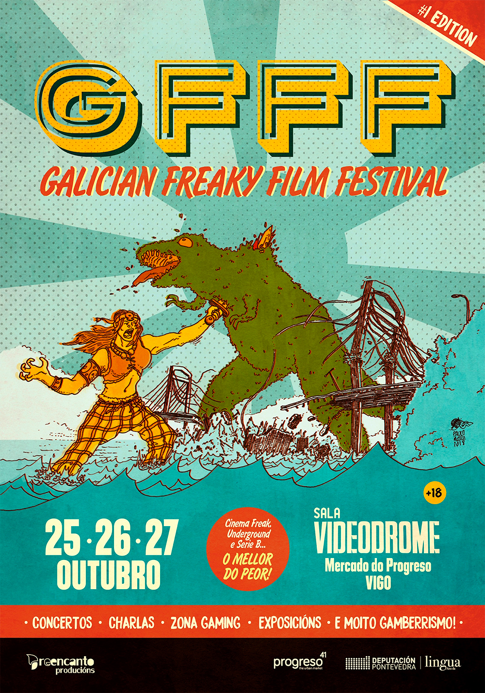 Galician Freaky Film Festival-Cartaz-Edicion-1