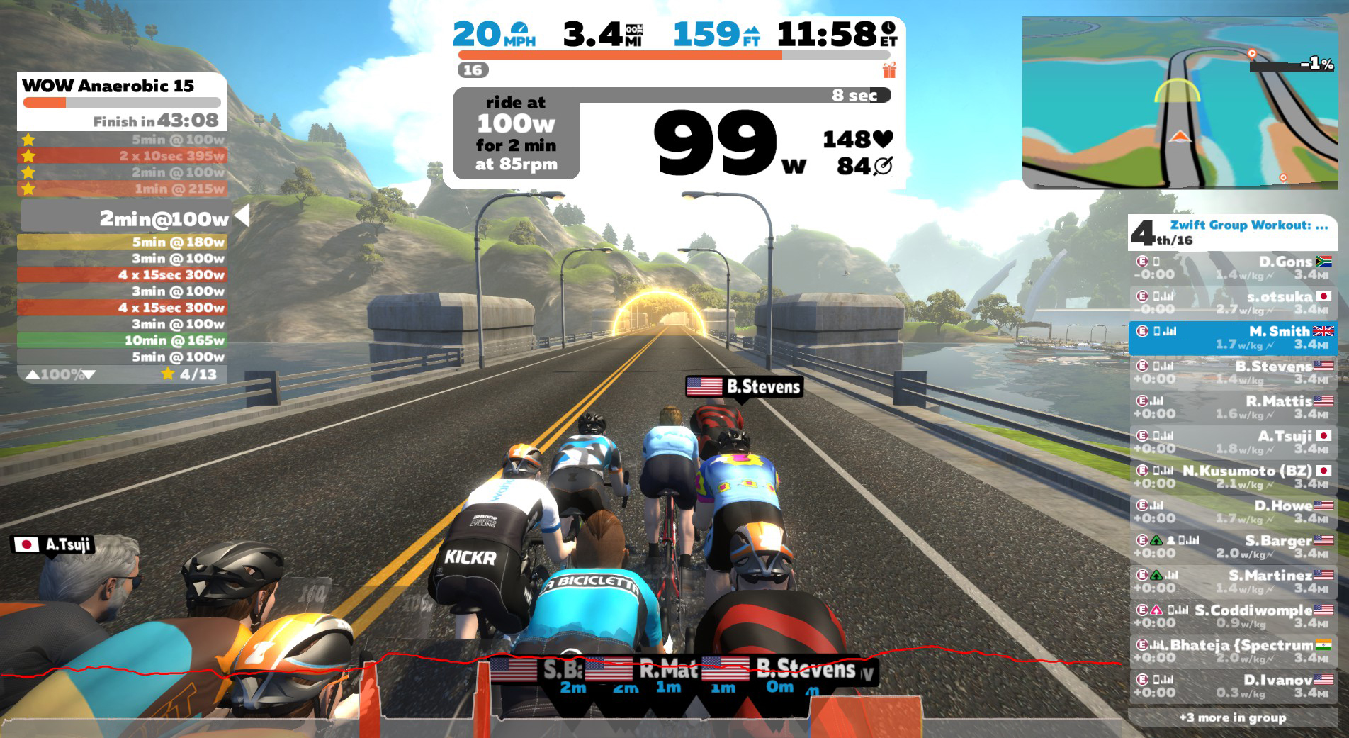 Zwift workout